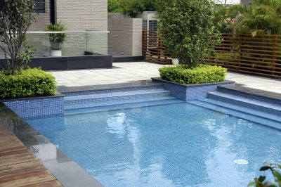 Great Swimming Pool Layout by Deep Blue Pools and Spas